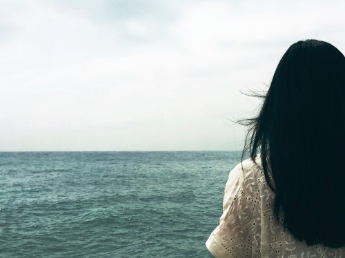 Woman and Ocean